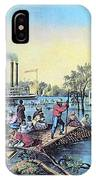 Life On The Mississippi, 1868 IPhone Case