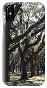 Light Through Live Oaks IPhone Case
