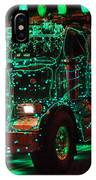Lighted Green Dumptruck IPhone Case
