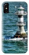 Lighthouse On The Blue Sea IPhone Case