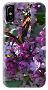 Lilac Butterfly IPhone Case