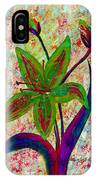 Lily Abstraction IPhone Case