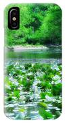 Lily Pads Along Unami Creek IPhone Case