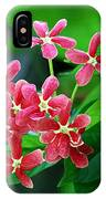Little Pink Chinese Honeysuckle Flowers  IPhone Case