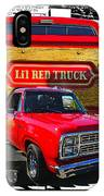 Little Red Express Dbl Hdr IPhone Case
