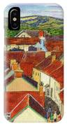 Painting Llandovery Roof Tops IPhone Case