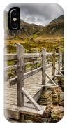 Llyn Idwal Bridge IPhone Case
