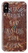 Loading And Unloading Zone IPhone Case