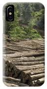 Logs In Logging Area, Danum Valley IPhone Case