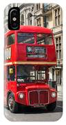 London Red Bus IPhone Case