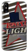 Lone Star Beer Light IPhone Case