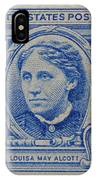 Louisa May Alcott Postage Stamp  IPhone Case