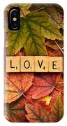 Love-autumn IPhone Case