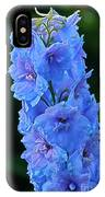 Lovely Larkspur Blue IPhone Case