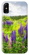 Lupin Flowers In Newfoundland IPhone Case