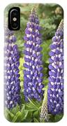 Lupine Lupinus Sp Sea Horse Variety IPhone Case