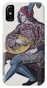 Lute Player, 1839 IPhone Case