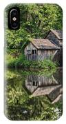 Mabry Mill And Pond With Reflection IPhone Case