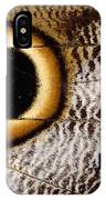 Macrophotograph Of Owl Butterfly Wing IPhone Case
