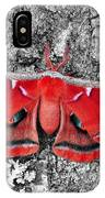 Madam Moth - Red White And Black IPhone Case