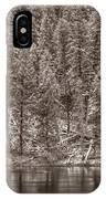 Madison River Yellowstone Bw IPhone Case