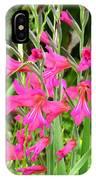 Magenta Flowers IPhone Case