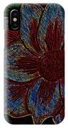 Magnolia Abstract Sketch IPhone Case