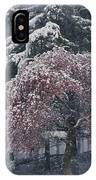 Magnolia Blossoms And Conifers IPhone Case