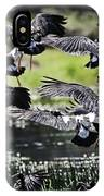 Magpie Geese In Flight Mcminn Lagoon IPhone Case