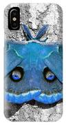 Male Moth Light Blue IPhone Case