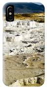 Mammoth Hot Springs Terraces IPhone Case