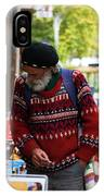 Man In A Red Sweater IPhone Case
