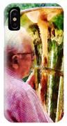 Man Playing Tuba IPhone Case