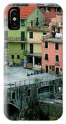 Manarola Houses On The Cinque Terre II IPhone Case