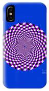 Mandala Figure Number 5 With Rhombus Steps In Black And White And Purple IPhone Case