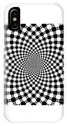 Mandala Figure Number 9 With Black And White Circles IPhone Case
