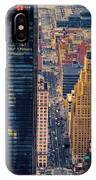 Manhattan Streets From Above IPhone Case