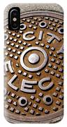 Manhole Cover In Chicago IPhone Case