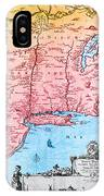 Map Of New Netherland, 1650s IPhone Case