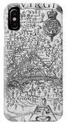 Map Of Virginia, 1624 IPhone Case
