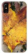 Maple Leaf In Fall IPhone Case
