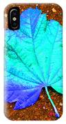 Maple Leaf On Pavement IPhone Case