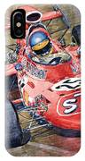 March 711 Ford Ronnie Peterson Gp Italia 1971 IPhone Case