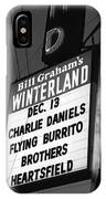 Marquee At Winterland In Late 1975 IPhone Case