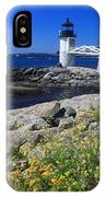 Marshall Point Lighthouse Summer Flowers IPhone Case