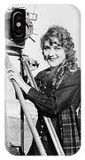 Mary Pickford (1893-1979). Born Gladys Mary Smith. American Actress, With A Movie Camera On A Beach, C1916 IPhone Case