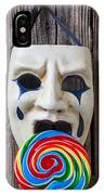 Mask Licking Sucker IPhone Case