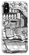 Medical Purging, Satirical Artwork IPhone Case