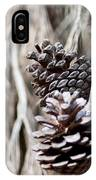 Dry Mediterranean Pinecone With Winter Colors IPhone Case