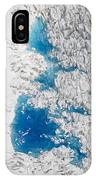 Meltwater Lakes On Hubbard Glacier IPhone Case